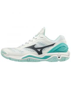 Mizuno Wave Stealth V WHT/BLUEBERRY/BTURQUOISE