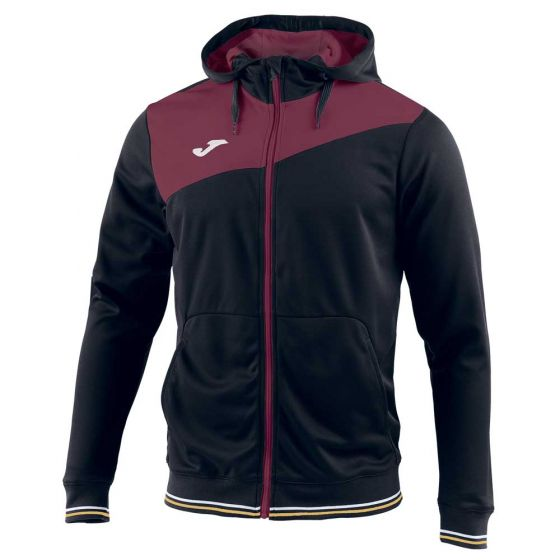 Joma Granada Sweatshirt Hoody - Black/Wine